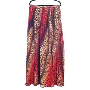 I Jeans By Buffalo   Multicolor Leopard Maxi Skirt